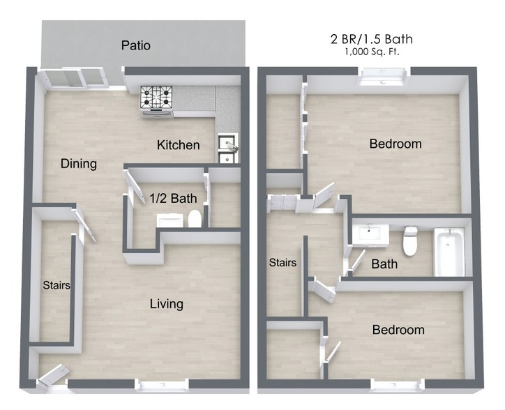 Floorplan - Cambridge Commons Apartments