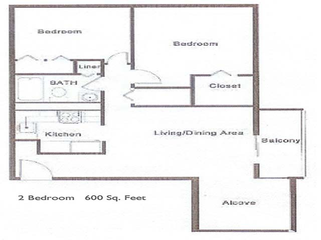 2 Bedroom Roberts Iii Apartments
