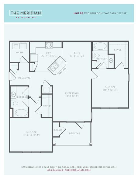 Floorplan - THE MERIDIAN AT REDWINE