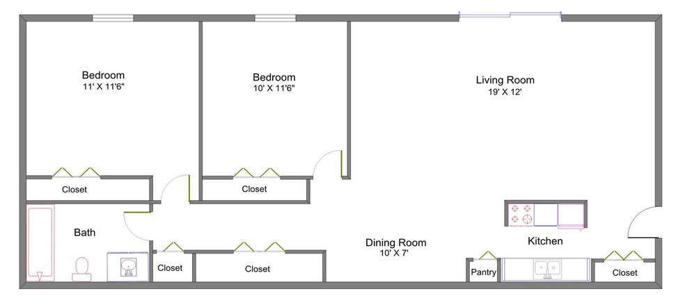 Closet - Hawthorne Club Apartments