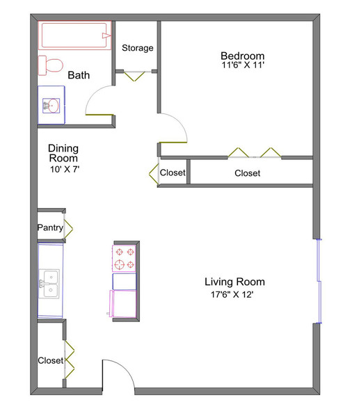 Floorplan - Hawthorne Club Apartments
