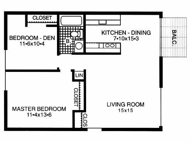 2BR/1BA - River Bend Apartments